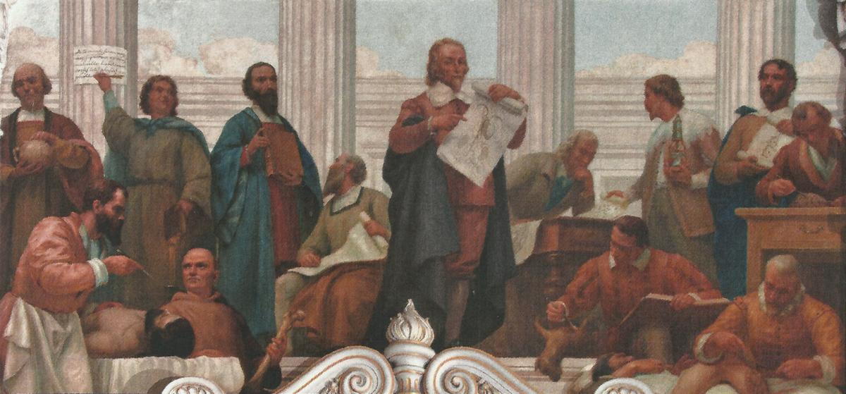 Medicina a Padova nei secoli: Fabrici d'Acquapendente, quando l'anatomia incontra l'arte Medicina_do_renascimento_c._1906_-_veloso_salgado_sala_dos_actos_fcm-unl