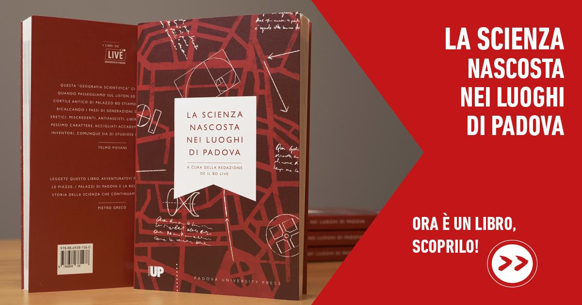 Banner libro La scienza nascosta nei luoghi di Padova