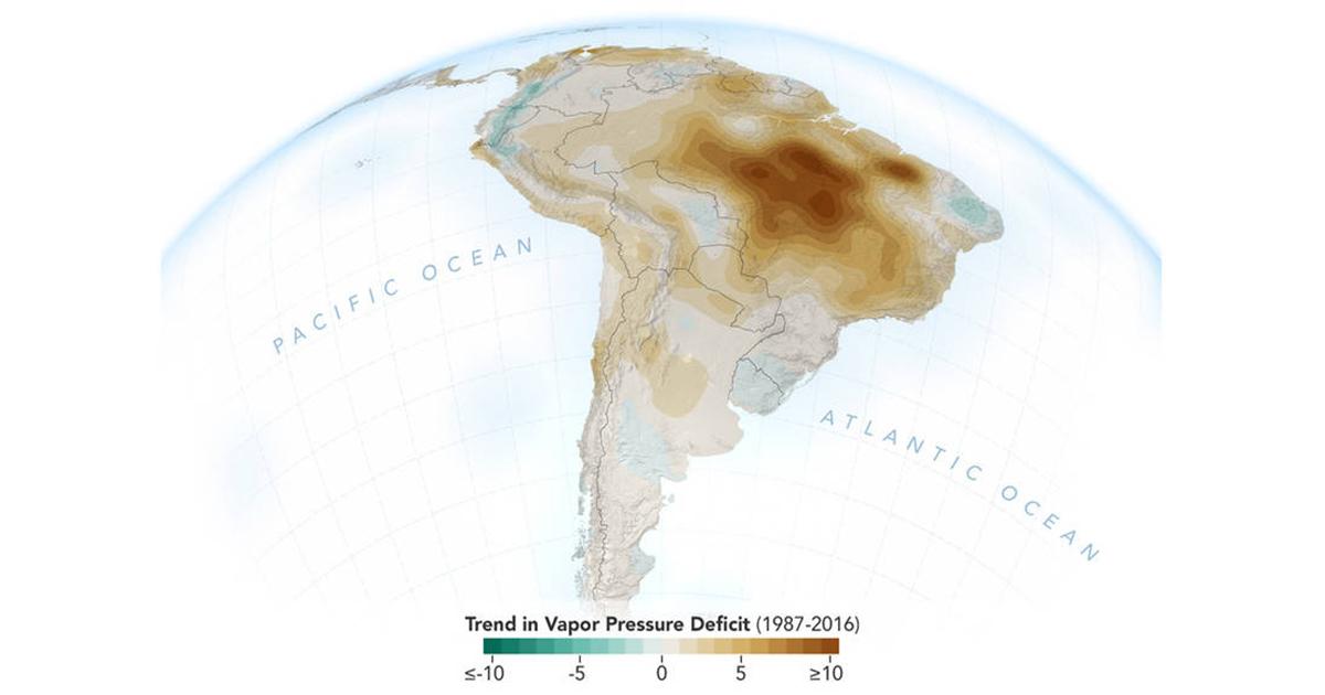 Le attività umane stanno seccando l'Amazzonia Infografica_nasa