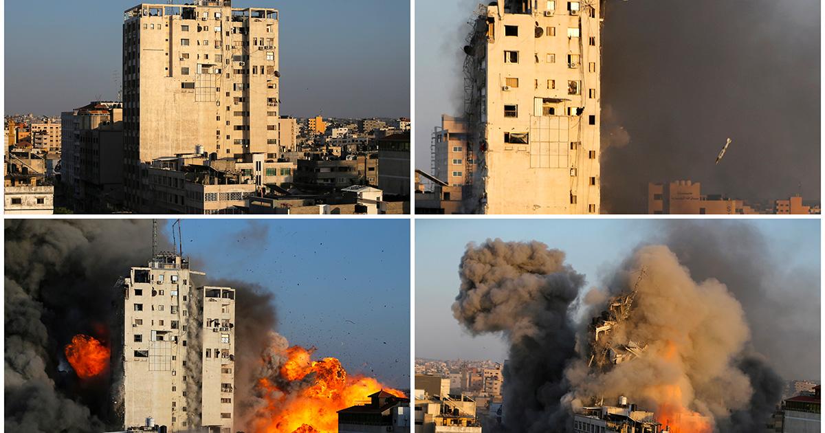 Un bombardamento israeliano a Gaza. Foto: Reuters