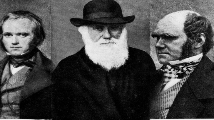 Charles Darwin (1809-1882), at​ age 31 in 1840 (L), age 72 in​ 1881 (M), age 45 in 1854 (R).​ Courtesy: CSU Archives / Ever​ett Collection