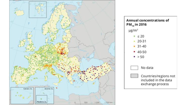 particolato pm 10 europa inquinamento atmosferico