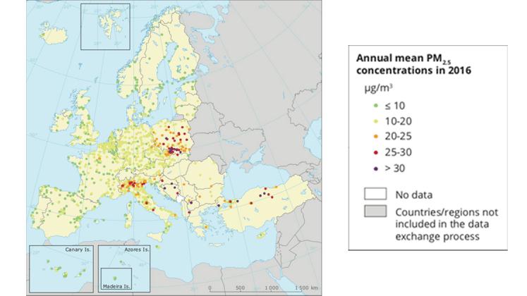 particolato pm 2.5 europa inquinamento atmosferico